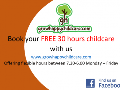 Grow Happy Childcare 30 hours free childcare
